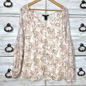 WHBM pattern lightweight blouse